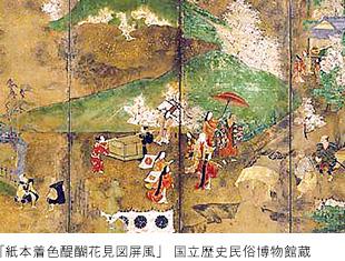 「醍醐花見屏風」の画像検索結果